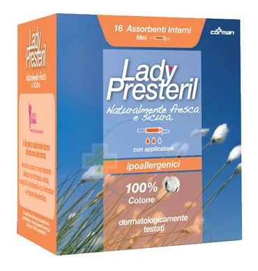 Lady Presteril Linea Pocket Assorbente Puro Cotone 16 Assorbenti Interni Mini