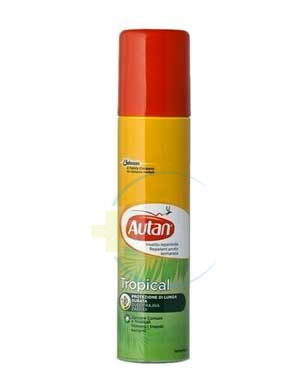 Autan Linea Tropical Spray Secco Delicato Insetto-Repellente 100 ml
