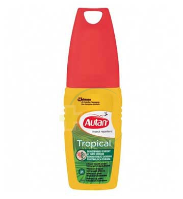Autan Linea Tropical Vapo Spray Delicato Insetto-Repellente 100 ml
